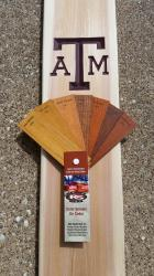 If you would like to have your piece stained, here are some samples of the stain colors we use.