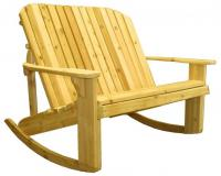 Click to enlarge image  Adirondack Loveseat Rocker -  Designed for love birds with room for two to curl up in!