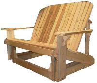 Click to enlarge image  Adirondack Loveseat Glider - Designed for love birds with room for two to curl up in!