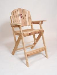 Click to enlarge image Texas A & M University Folding Adirondack Director Chair -